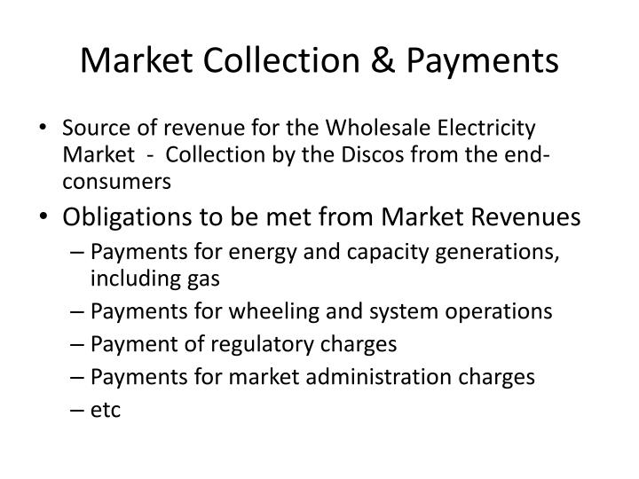 Market Collection & Payments