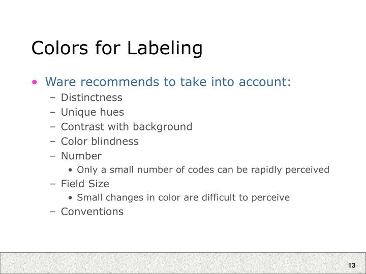 Colors for Labeling