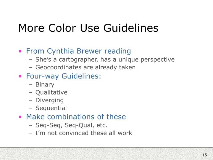 More Color Use Guidelines