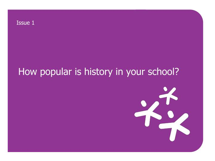 How popular is history in your school?