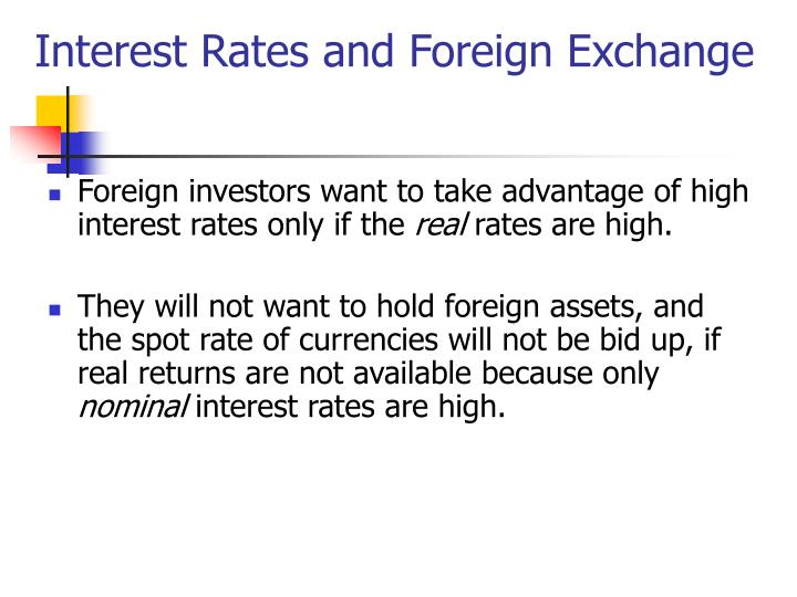 Interest Rates and Foreign Exchange