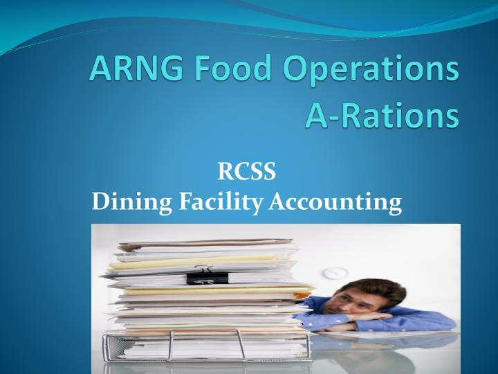Arng food operations a rations