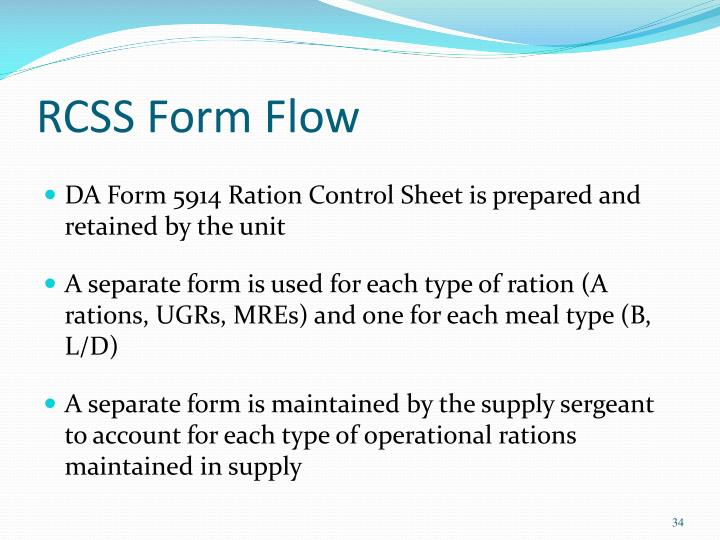 RCSS Form Flow