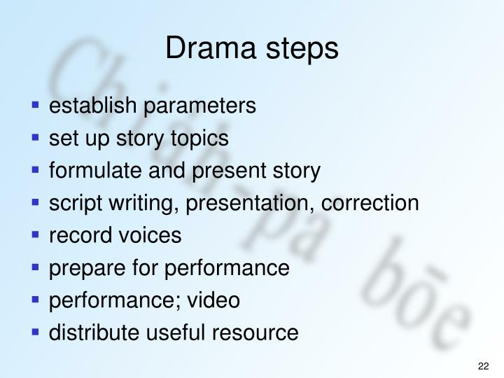 Drama steps