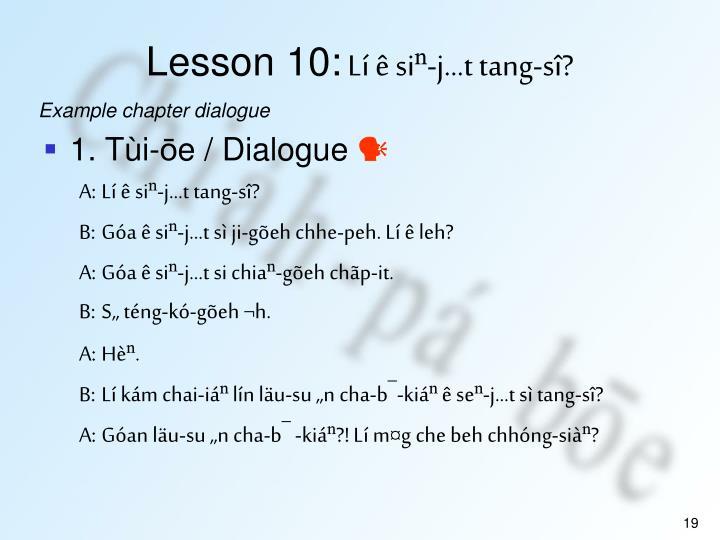 Lesson 10: