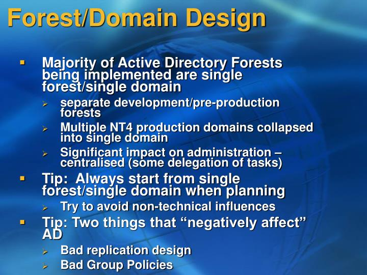 Forest/Domain Design