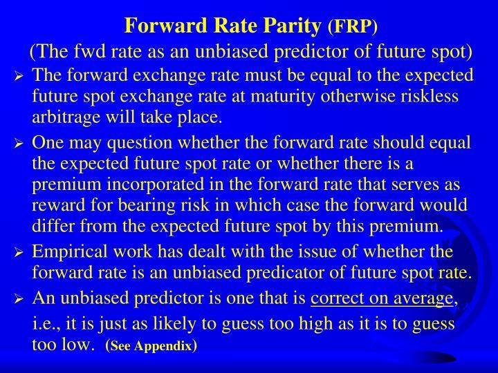 Forward Rate Parity