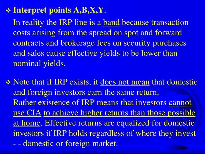 Interpret points A,B,X,Y