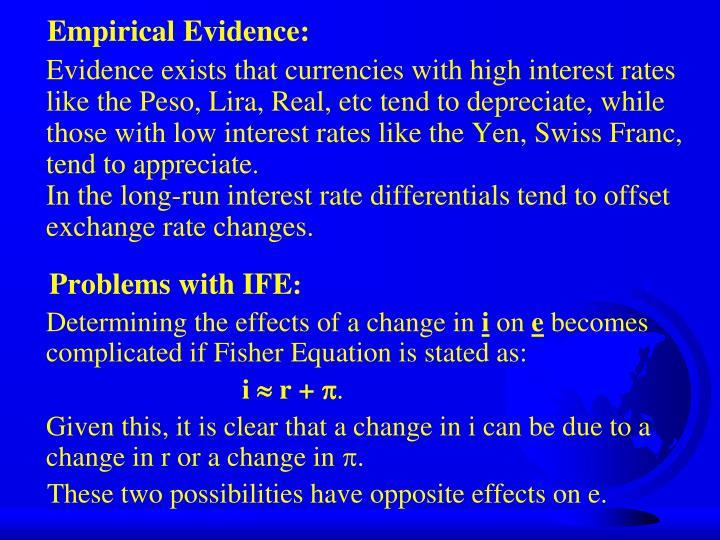 Empirical Evidence: