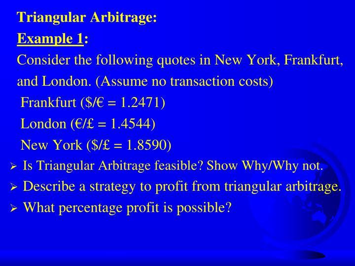 Triangular Arbitrage:
