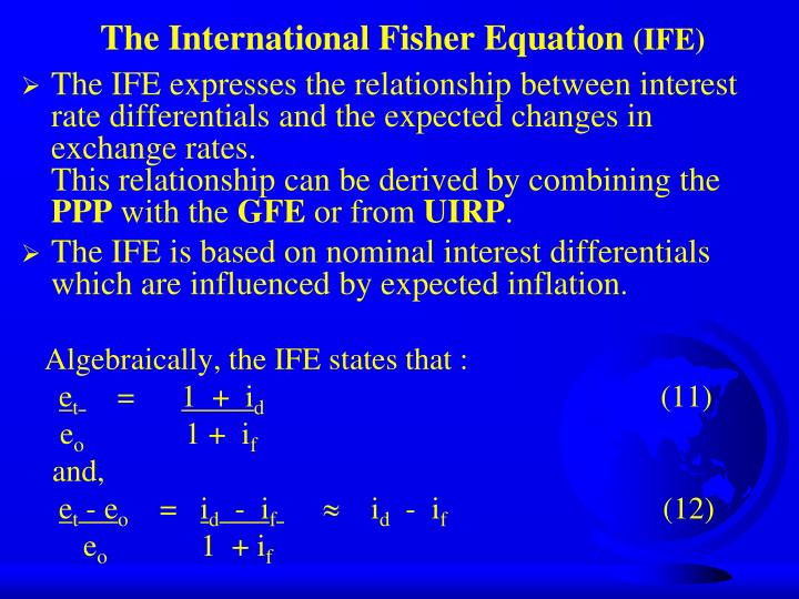 The International Fisher Equation