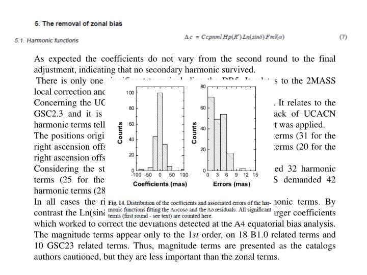 As expected the coefficients do not vary from the second round to the final adjustment, indicating that no secondary harmonic survived.