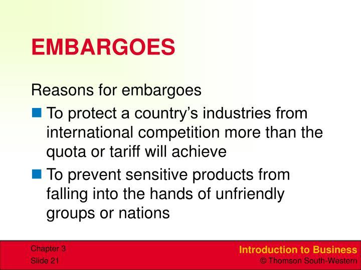 EMBARGOES