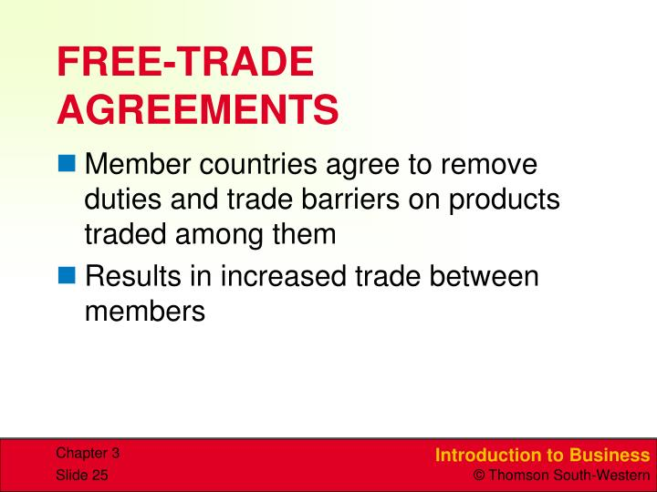 FREE-TRADE AGREEMENTS