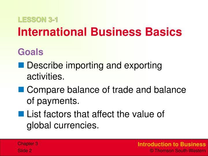Lesson 3 1 international business basics