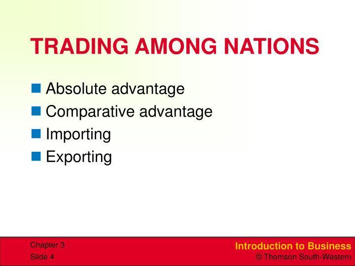 TRADING AMONG NATIONS