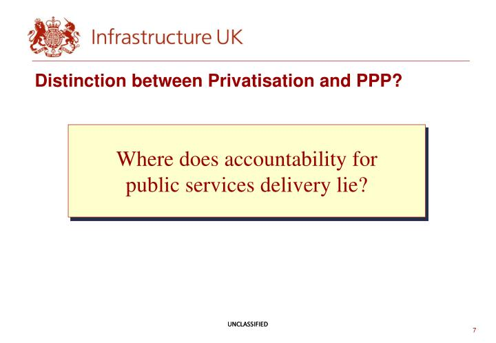 Distinction between Privatisation and PPP?