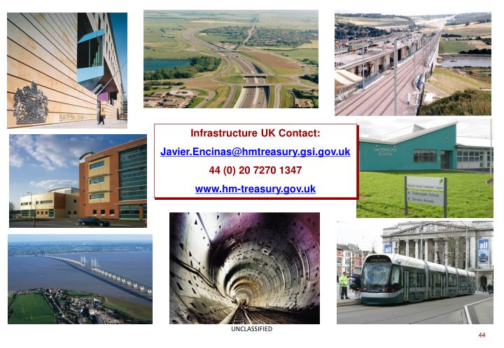 Infrastructure UK Contact: