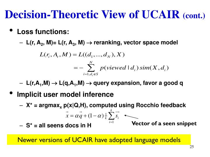 Decision-Theoretic View of UCAIR