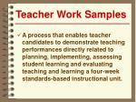 teacher work samples