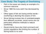 case study the tragedy of overfishing