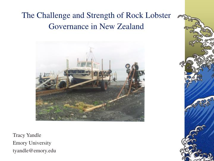 the challenge and strength of rock lobster governance in new zealand n.