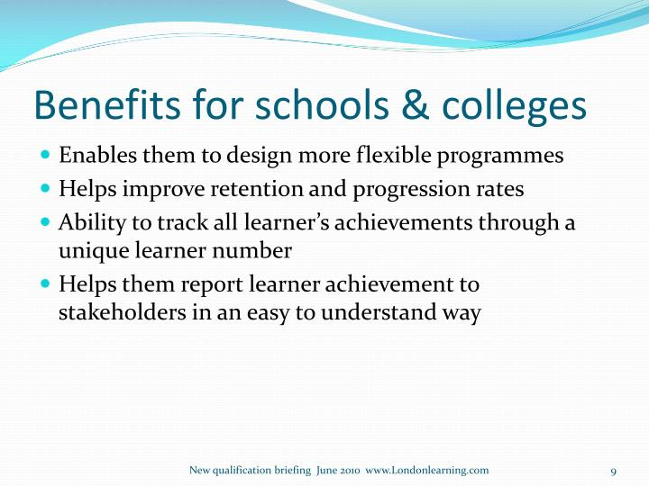 Benefits for schools & colleges
