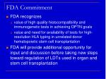 fda commitment