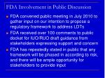 fda involvement in public discussion