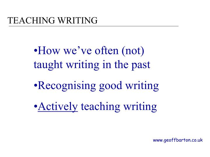 Teaching writing1