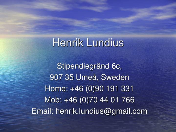 Henrik Lundius