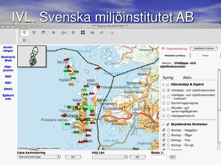 IVL, Svenska miljöinstitutet AB