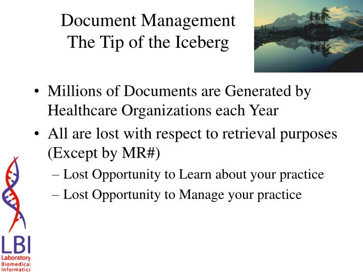Document management the tip of the iceberg