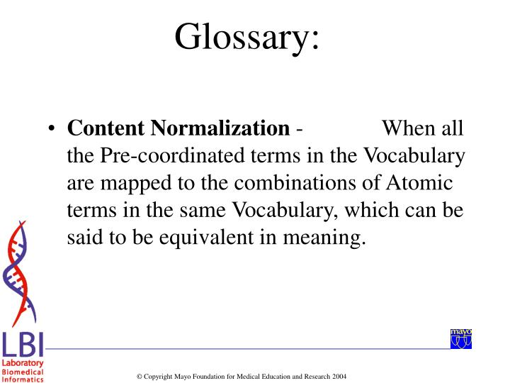 Content Normalization