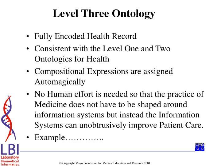 Fully Encoded Health Record