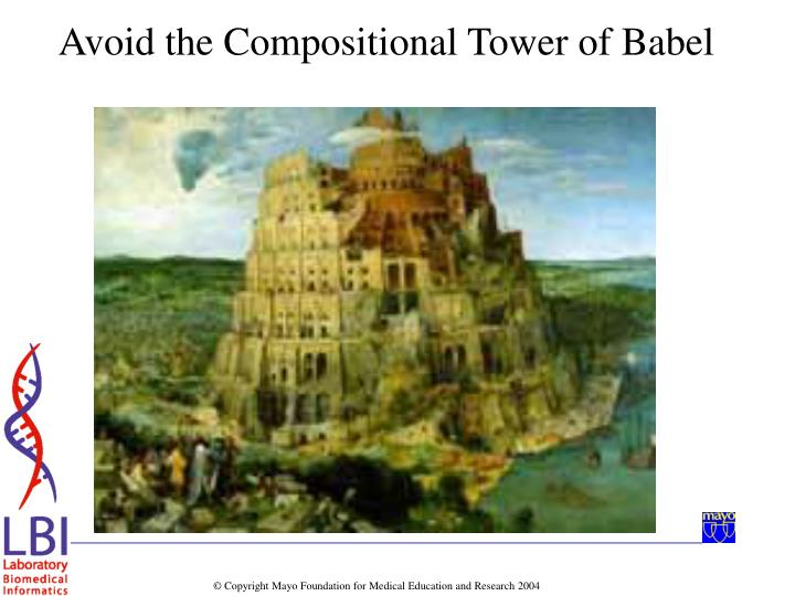 Avoid the Compositional Tower of Babel