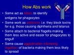 how abs work