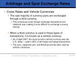 arbitrage and spot exchange rates6
