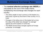 multilateral exchange rates1