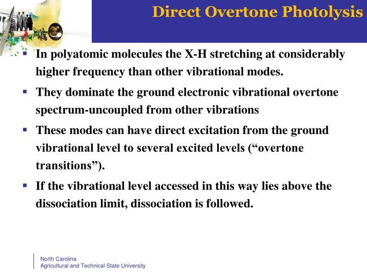 Direct Overtone Photolysis