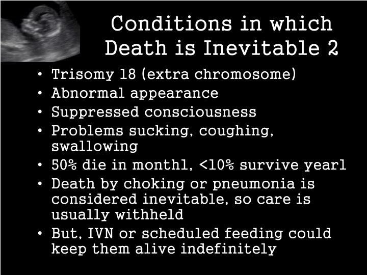 Conditions in which Death is Inevitable 2