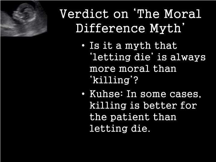 Verdict on 'The Moral Difference Myth'