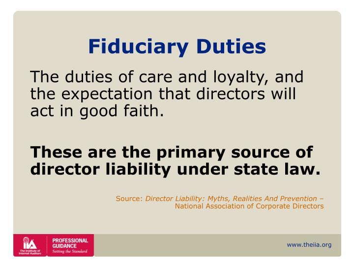 Fiduciary Duties