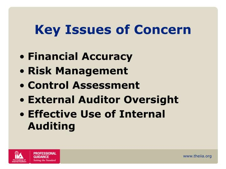 Key Issues of Concern