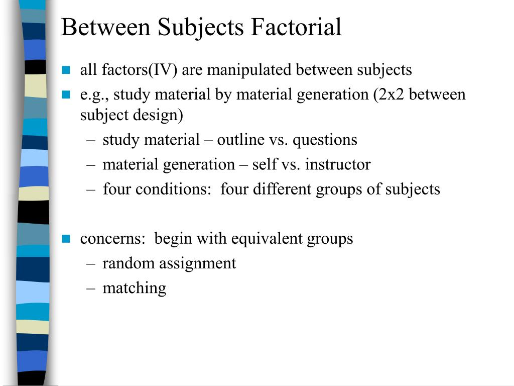 PPT - Chapter 9 – Factorial Designs PowerPoint Presentation