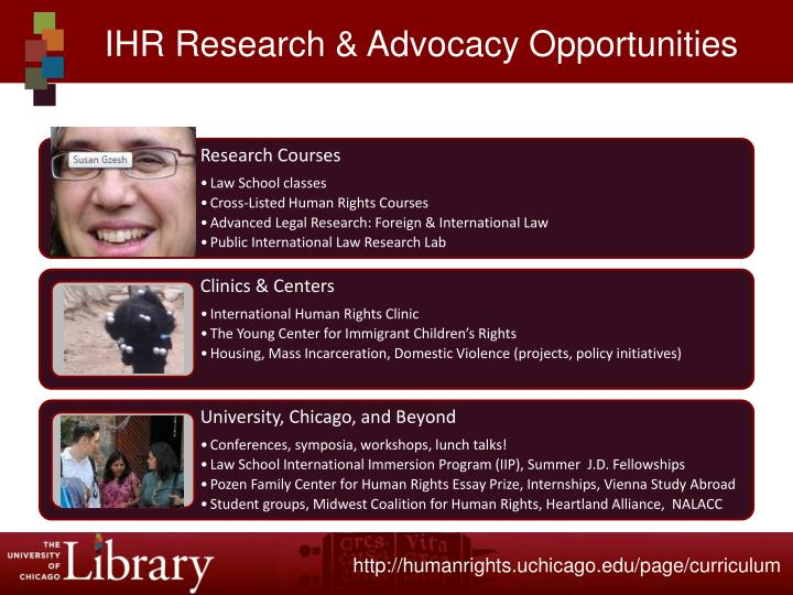 IHR Research & Advocacy Opportunities