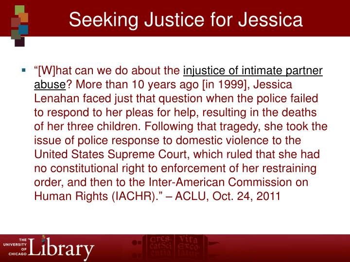 Seeking Justice for Jessica