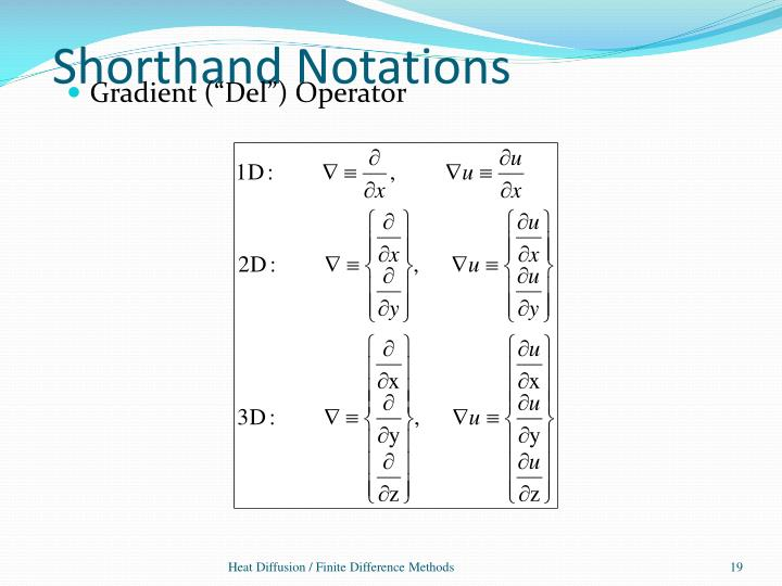 Shorthand Notations