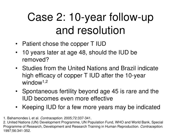 Case 2: 10-year follow-up