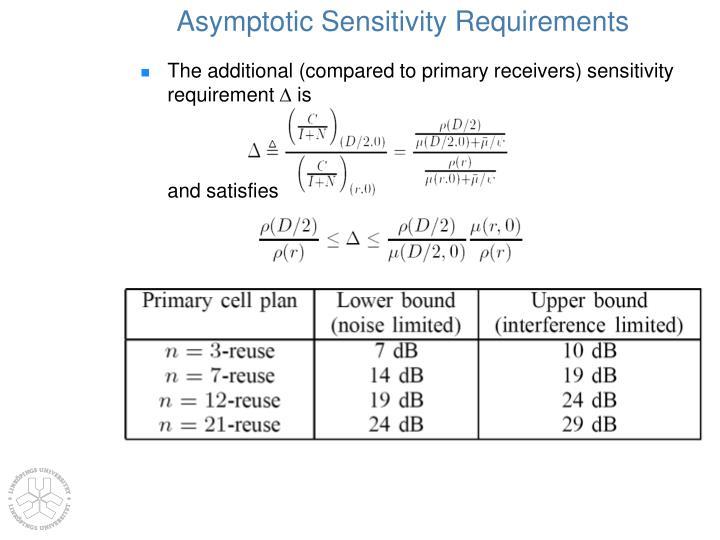 Asymptotic Sensitivity Requirements